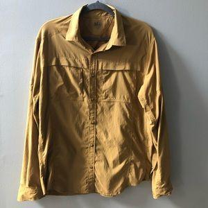 Vintage REI hiking shirt. Men's Large. Brown